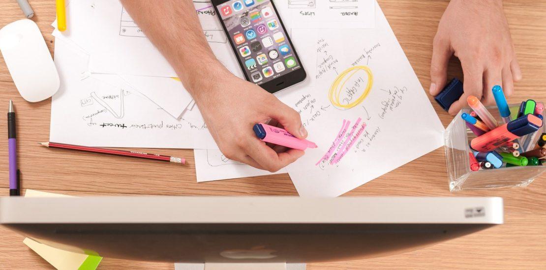person creates design